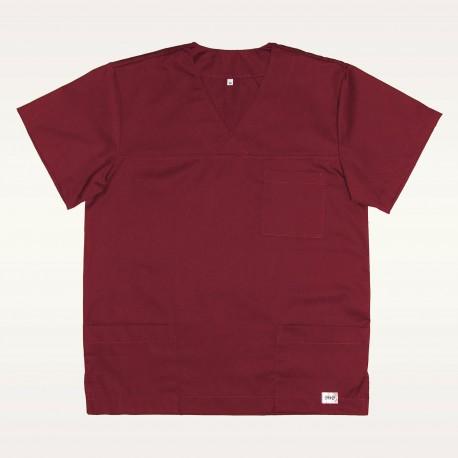 Bluza medyczna bordowa