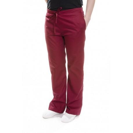 Spodnie uniwersalne bordowe