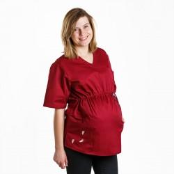 Bluza ciążowa bordowa